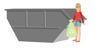 Container für Abfälle